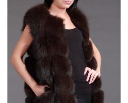 меховую жилетку из песца купить в интернет - магазине www.meha.lv 580 евро