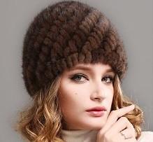 шапка из вязанной норки
