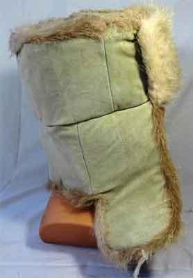 мужская зимняя меховая шапка ушанка