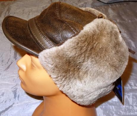 мужская зимняя шапка из овчины