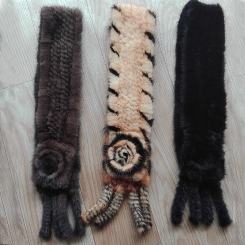 воротники из вязанной норки