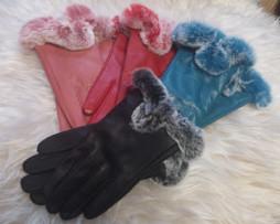 кожанные меховые перчатки в Риге