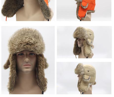 мужская кроличья шапка пижик